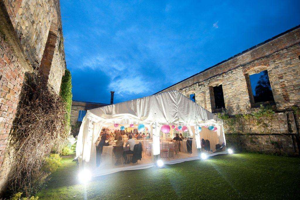 Wedding reception at Newburgh Priory